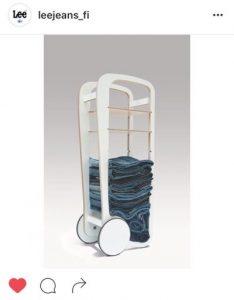 fleimio trolley with Lee jeans / farmareiden säilytykseen