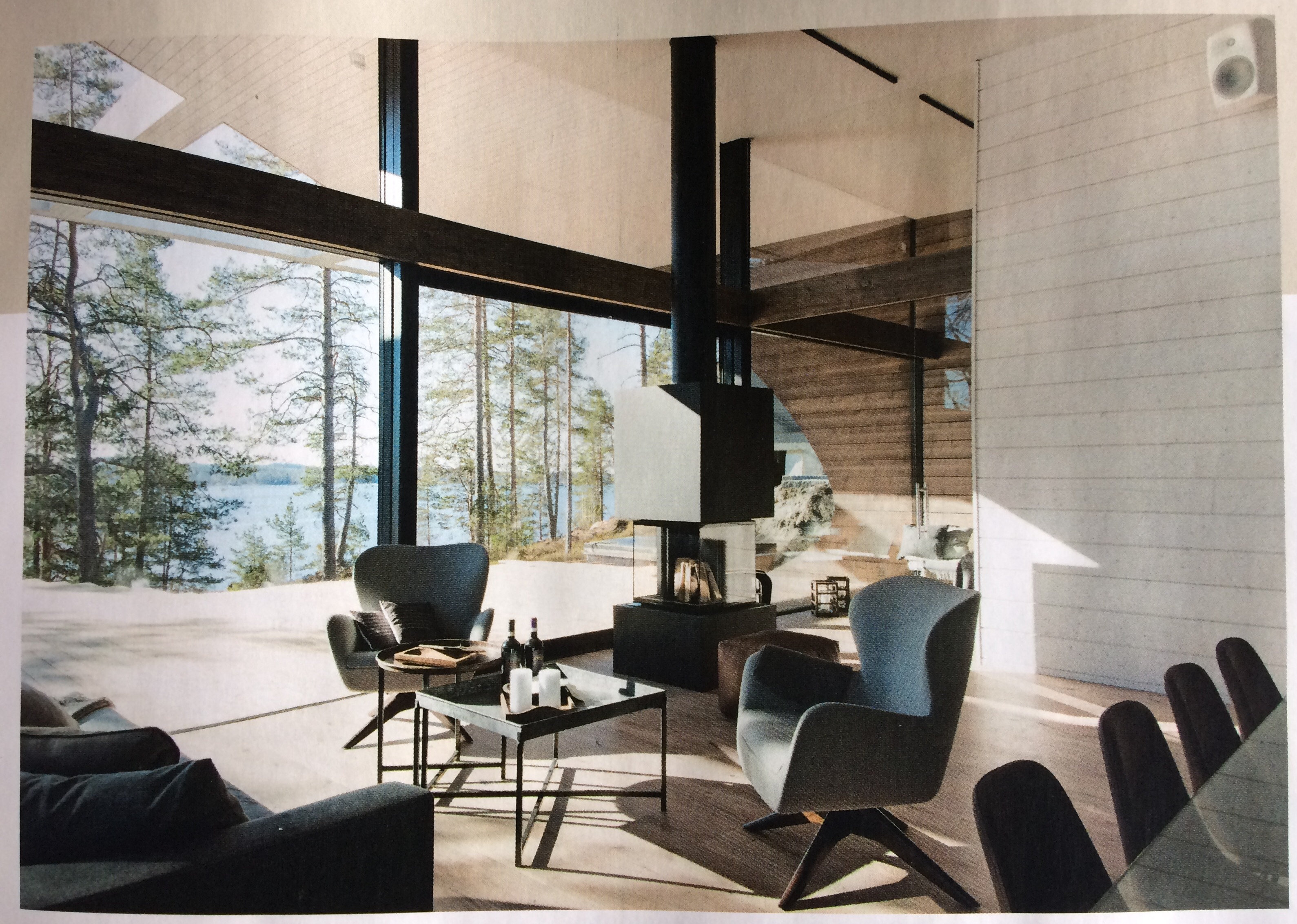 Talo Wave with fleimio mini trolley in Deko interior design magazine