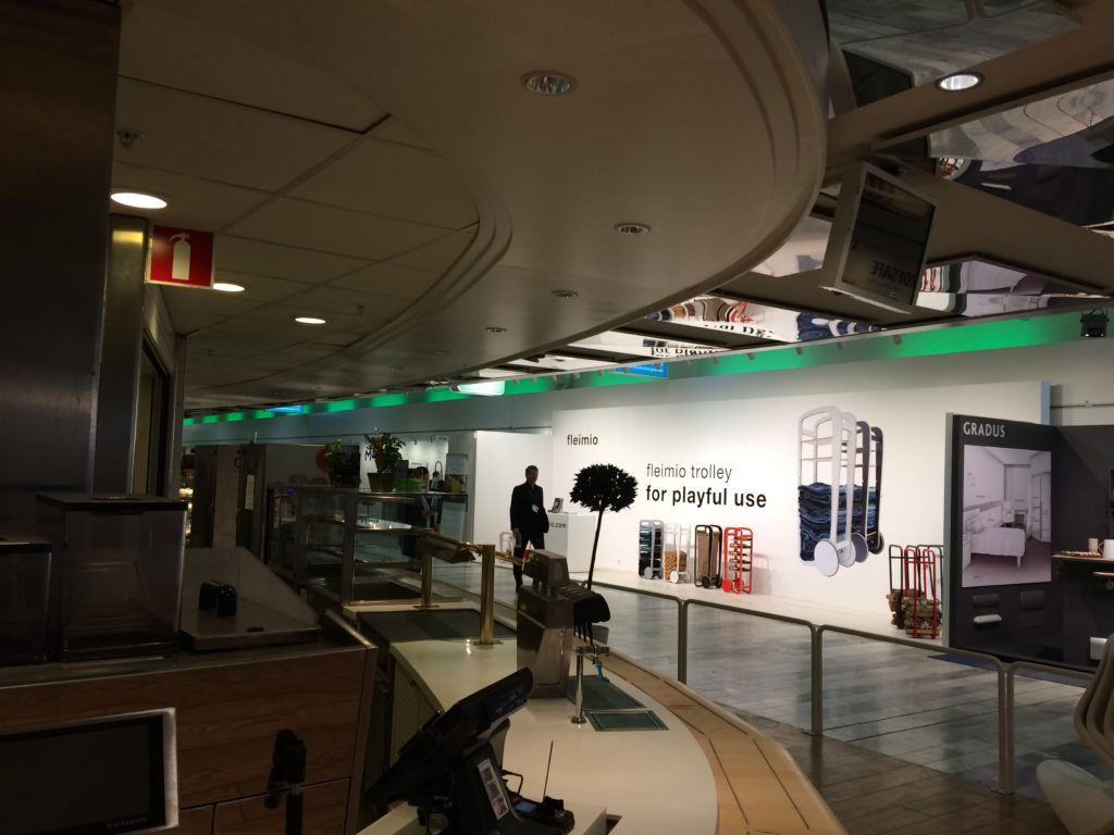 fleimio stand behind the caffe cafeteria at Stockholm fair 2018