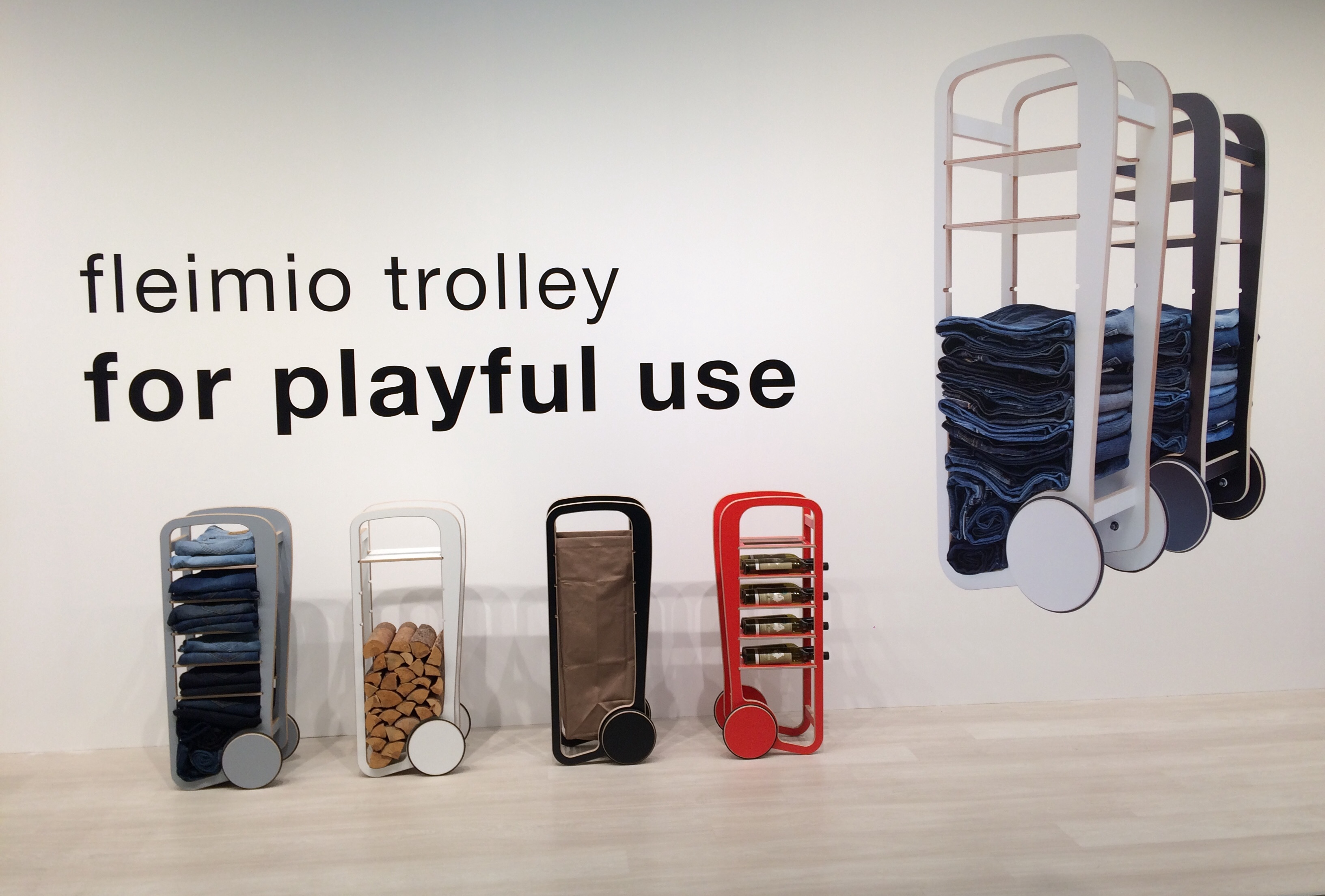 fleimio trolleys at stockholm furniture fair 2018