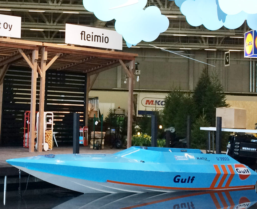 boat by the fleimio stand Spring Fair 2018