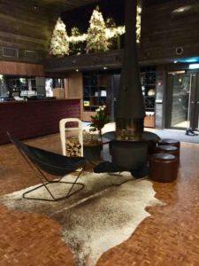 fleimio trolley arctic treehouse hotel lobby
