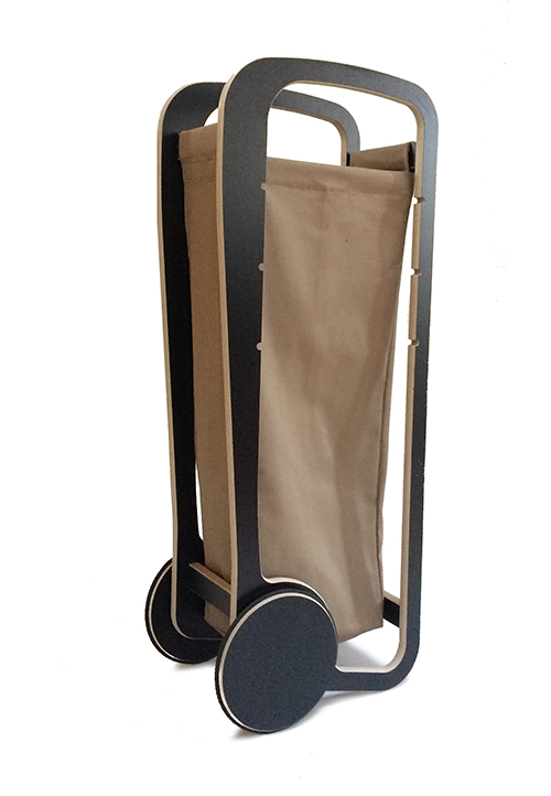 beige fleimio bag in fleimio trolley