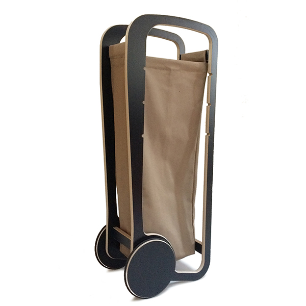 fleimio design trolley - black with beige bag