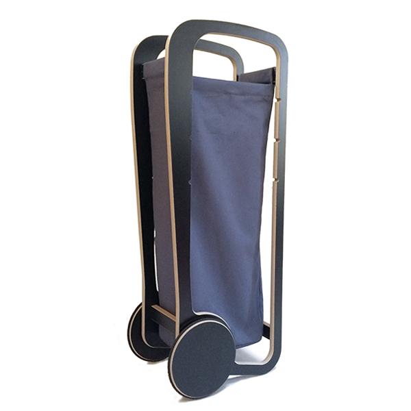 fleimio design trolley - dark grey with bag