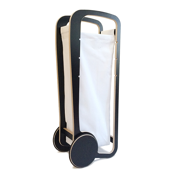 fleimio design trolley -black - with white bag