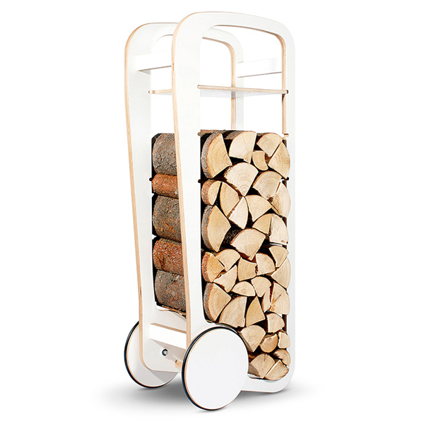fleimio design original trolley - white - with firewood
