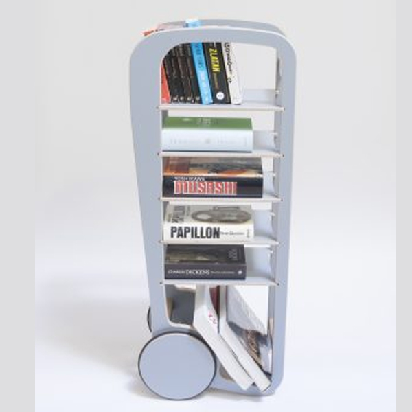 fleimio design original trolley - grey with books