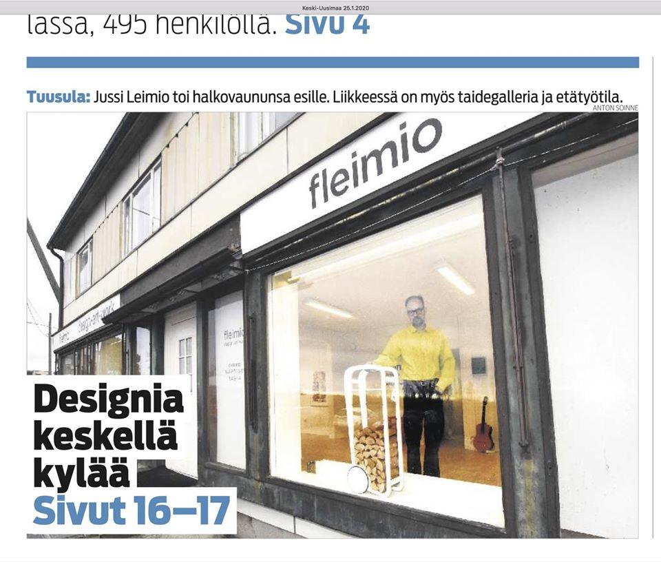 Keski-Uusimaa etusivu juttu fleimio design-art-work