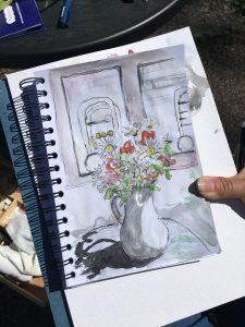 kukkamaljakko taideteos Suuri Maalaustapahtuma Tuusula 2020