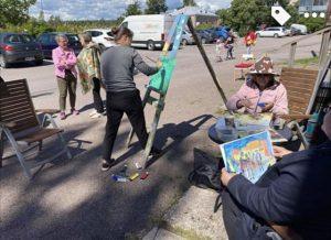 suuri maalaustapahtuma Tuusulassa 10072020