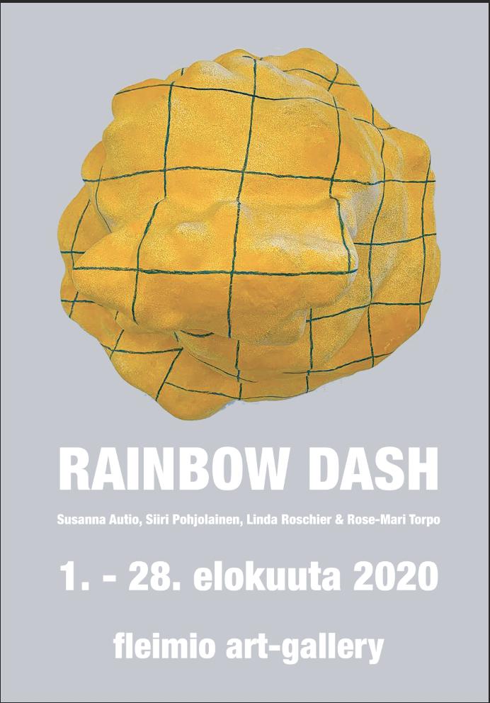 rainbow dash art exhibition poster fleimio art gallery august 2020